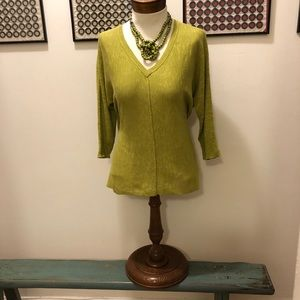Eileen Fisher Linen/cotton Sweater Chartreuse XS